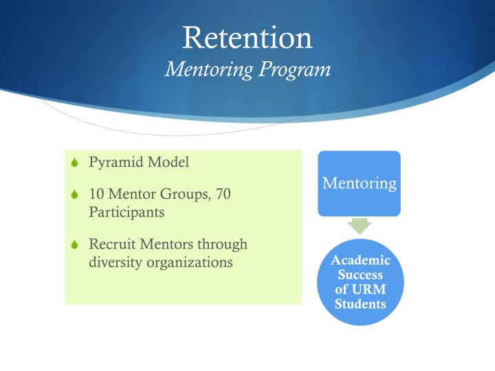 Retention mentoring program