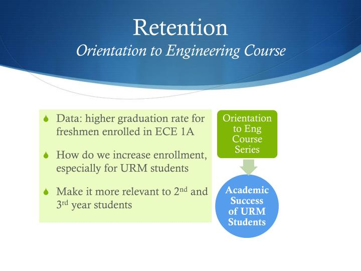 Retention orientation to engineering course