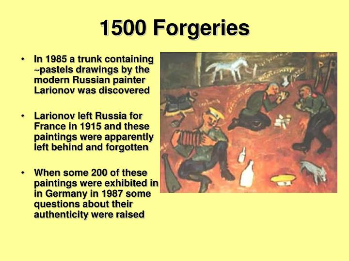 1500 Forgeries