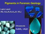 pigments in forensic geology12