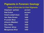 pigments in forensic geology20
