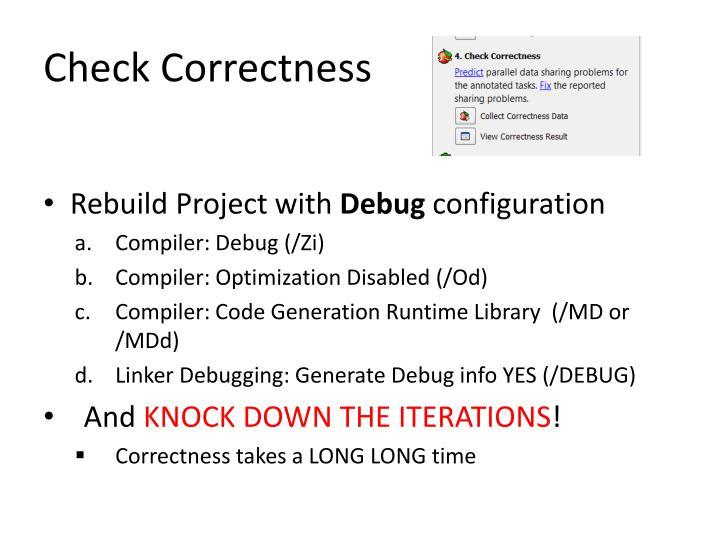 Check Correctness