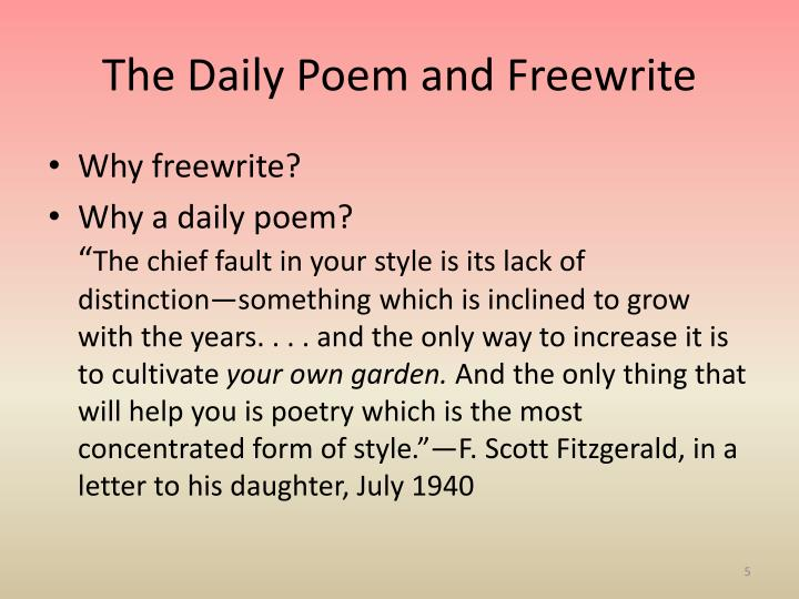 The Daily Poem and