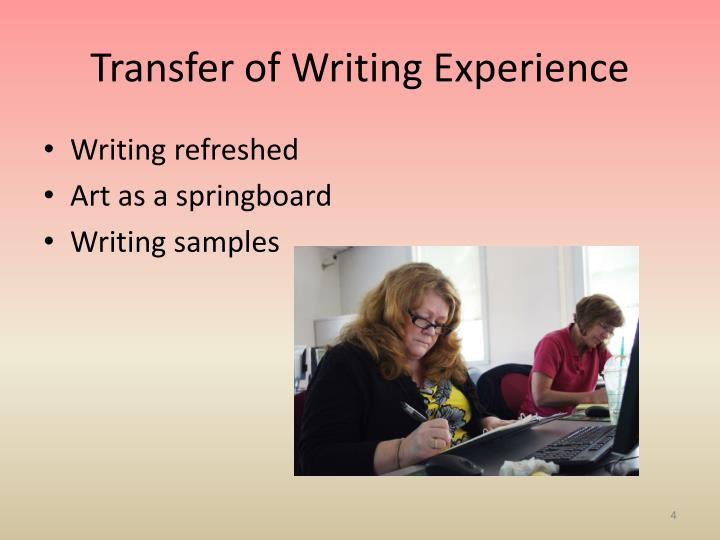 Transfer of Writing Experience