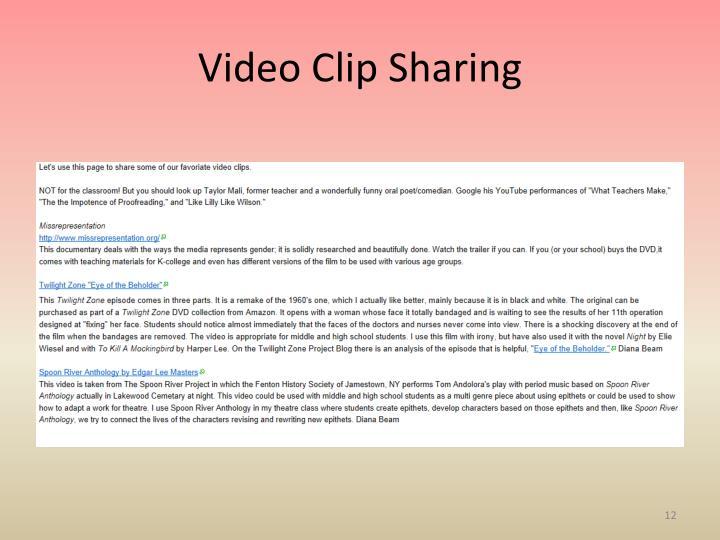 Video Clip Sharing