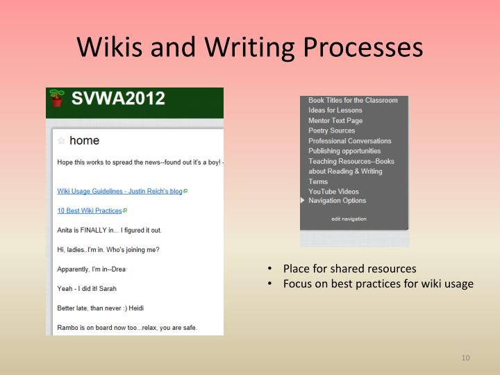 Wikis and Writing Processes