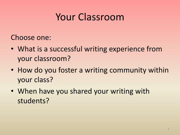 Your Classroom