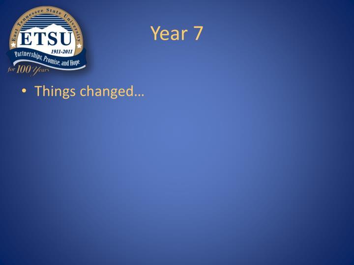 Year 7