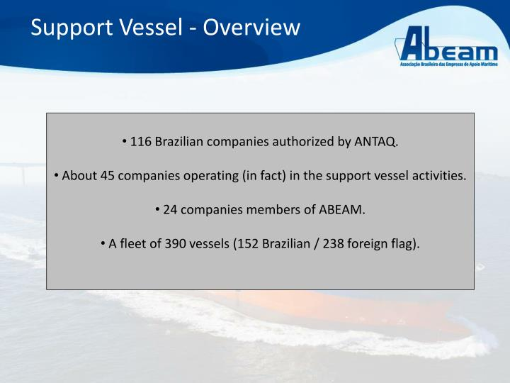 Support vessel overview