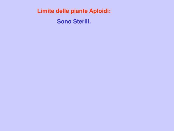 Limite delle piante Aploidi: