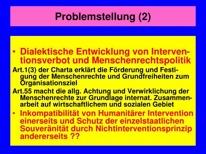 Problemstellung (2)