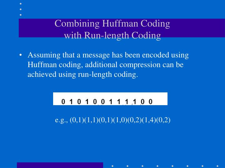 Combining Huffman Coding