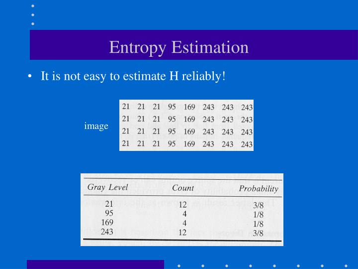 Entropy Estimation