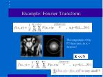example fourier transform