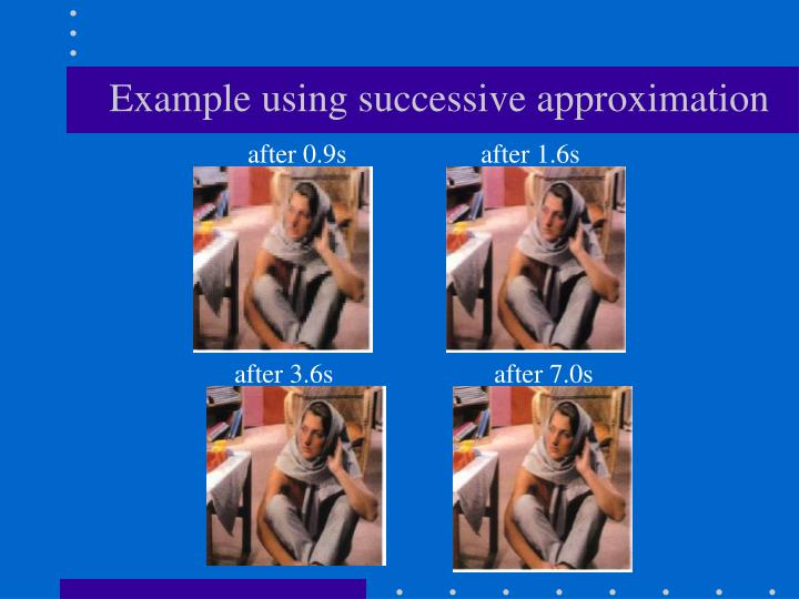 Example using successive approximation