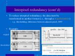 interpixel redundancy cont d