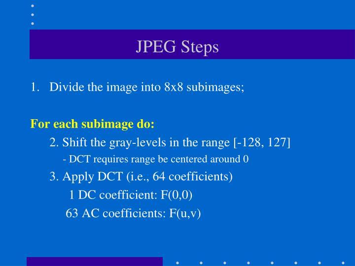 JPEG Steps