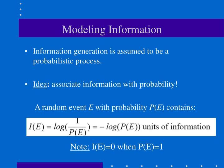 Modeling Information