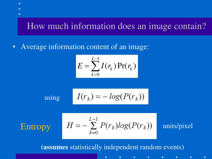 How much information does an image contain?