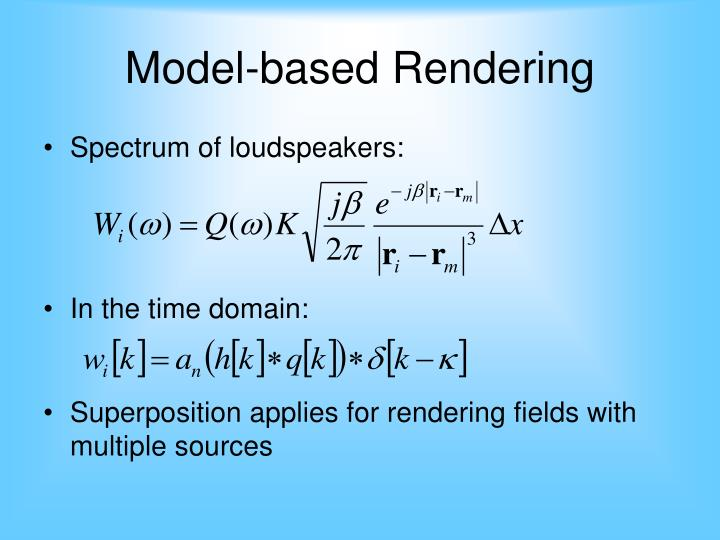 Model-based Rendering