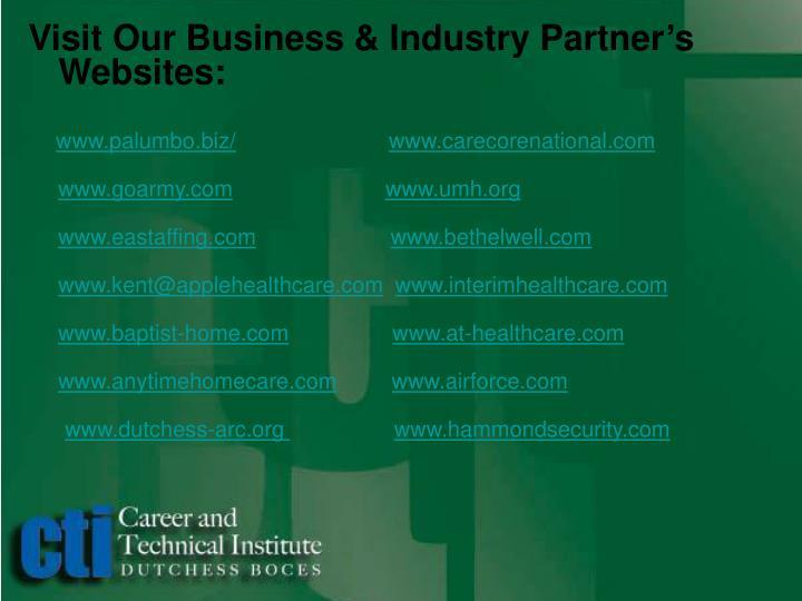 Visit Our Business & Industry Partner's Websites: