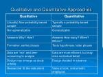 qualitative and quantitative approaches