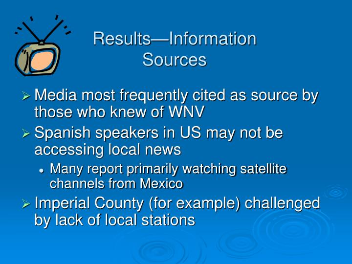 Results—Information Sources