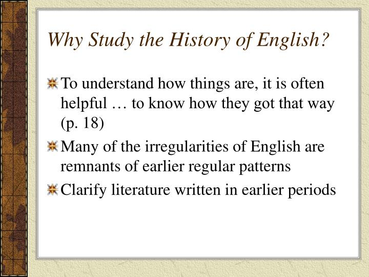 an analysis of english history An analysis of sexism in english guimei he qingdao university of science and technology, qingdao 266061, china this paper tries to make an analysis of.