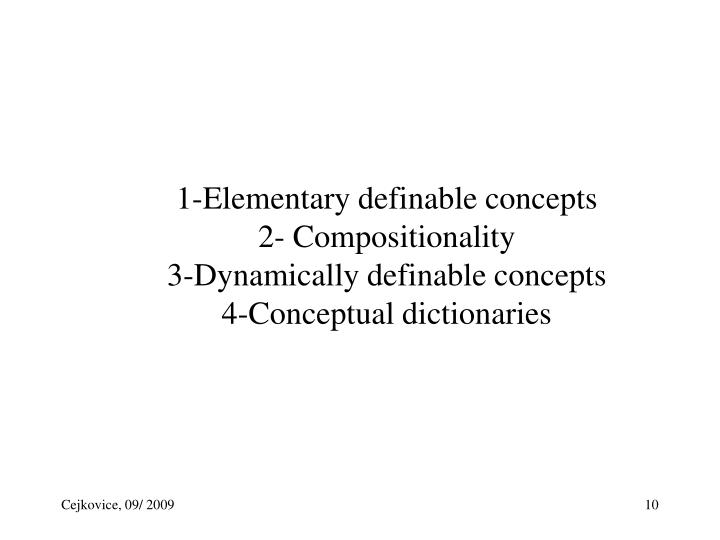 1-Elementary definable concepts