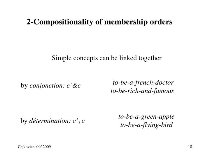 2-Compositionality of membership orders