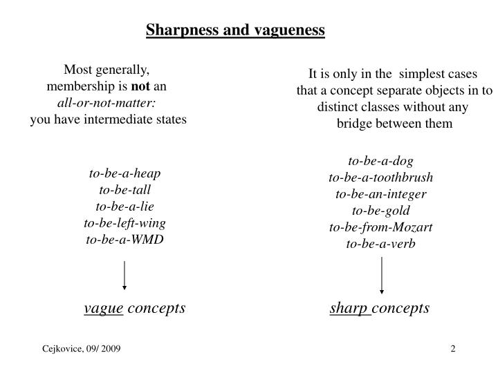 Sharpness and vagueness