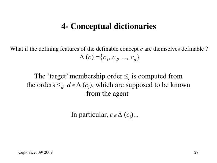 4- Conceptual dictionaries