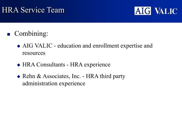 HRA Service Team
