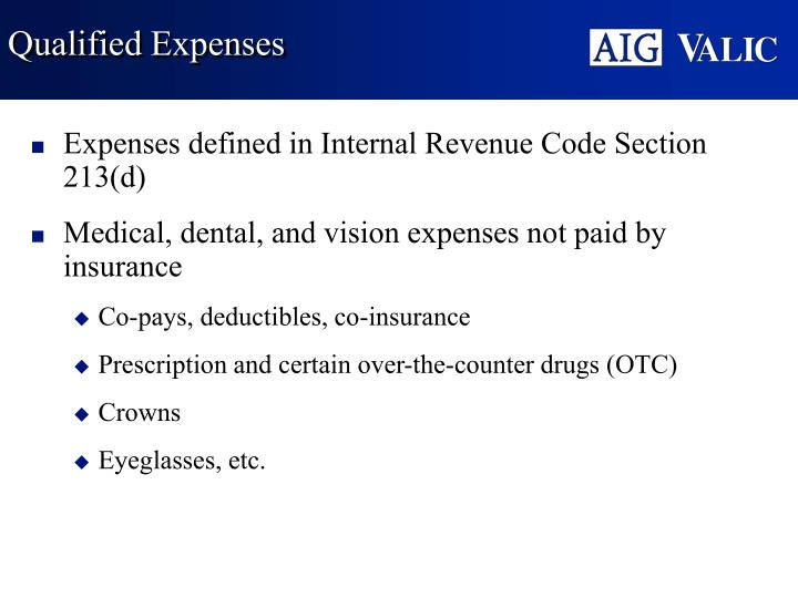 Qualified Expenses