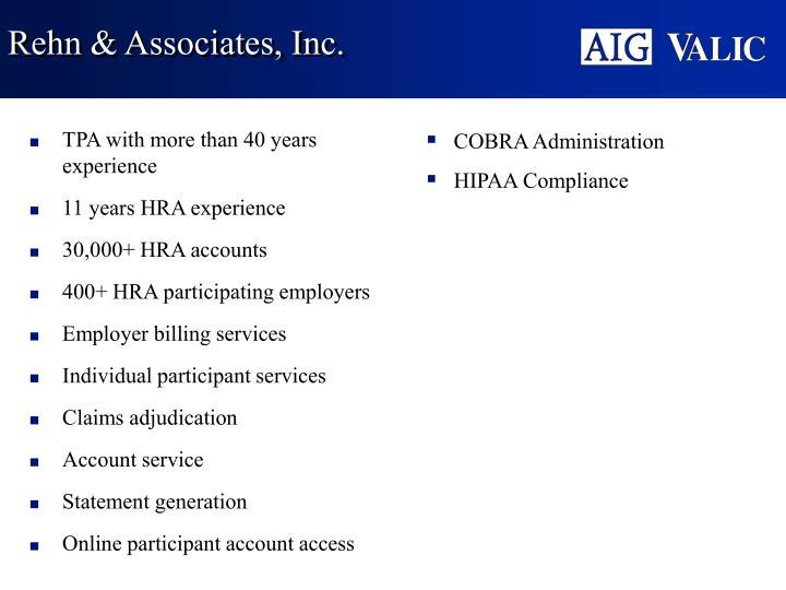 Rehn & Associates, Inc.