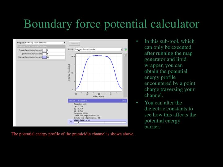 Boundary force potential calculator