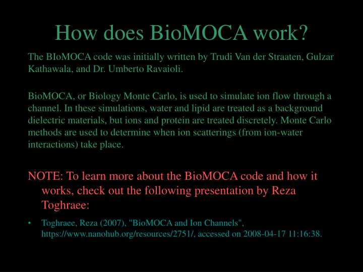 How does biomoca work