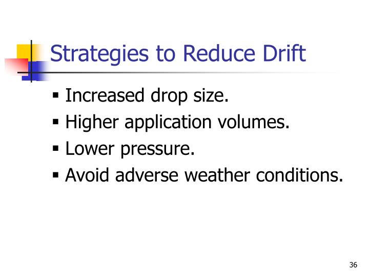 Strategies to Reduce Drift