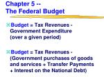 chapter 5 the federal budget
