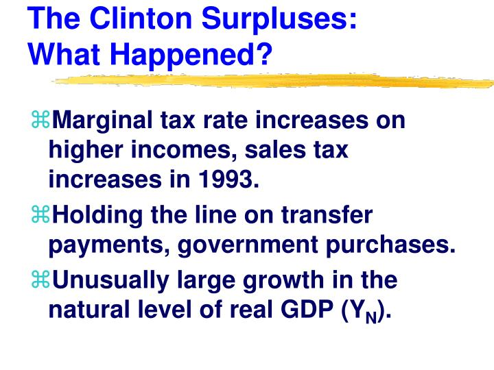 The Clinton Surpluses: What Happened?