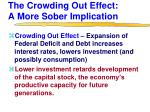 the crowding out effect a more sober implication