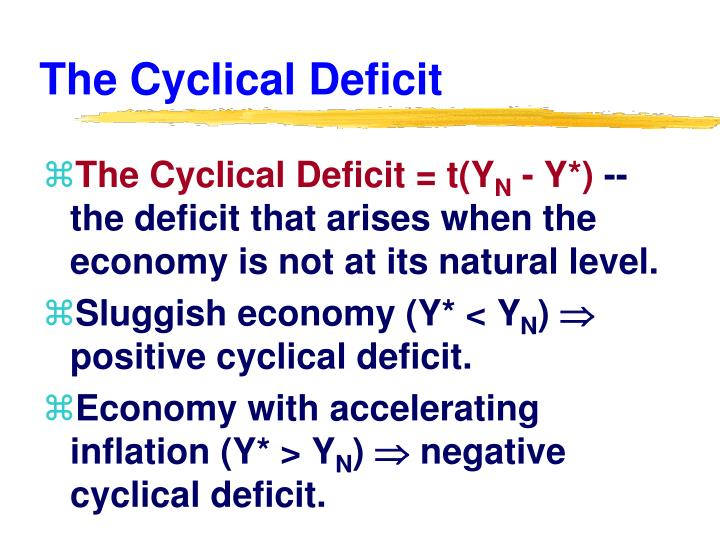 The Cyclical Deficit