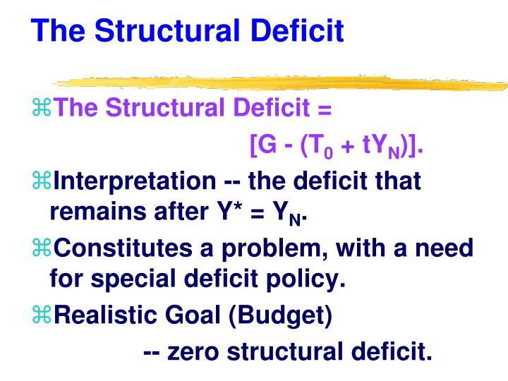 The Structural Deficit