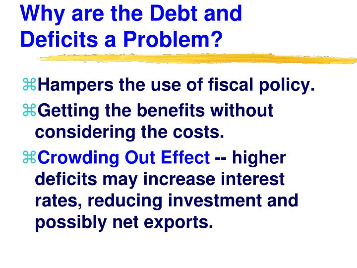 Why are the Debt and Deficits a Problem?