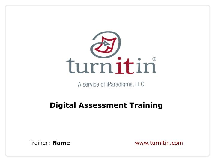 Digital Assessment Training