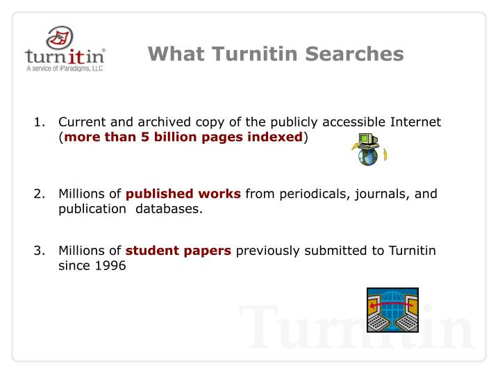 What Turnitin Searches