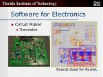software for electronics