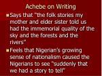 achebe on writing