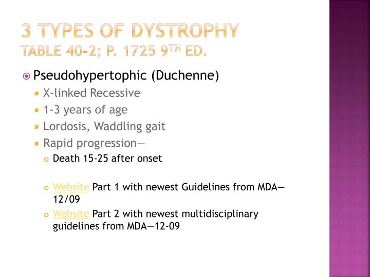 3 Types of Dystrophy