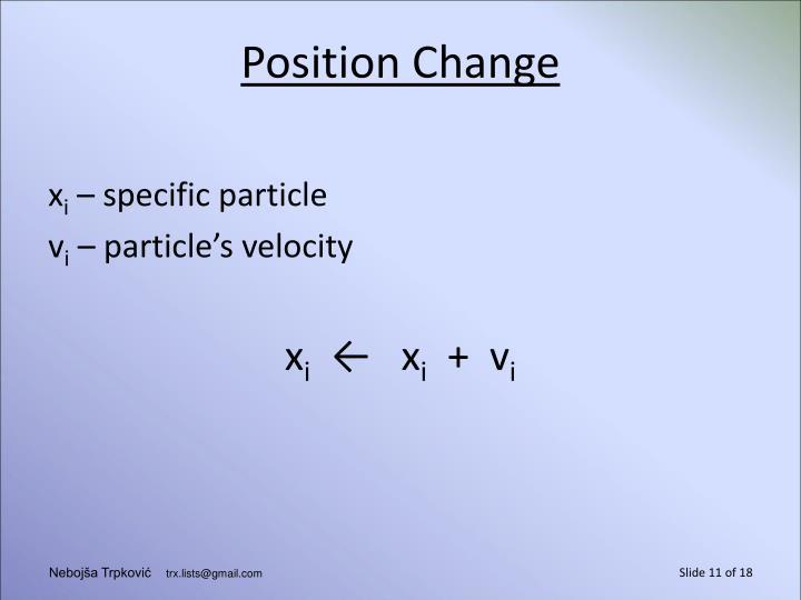 Position Change